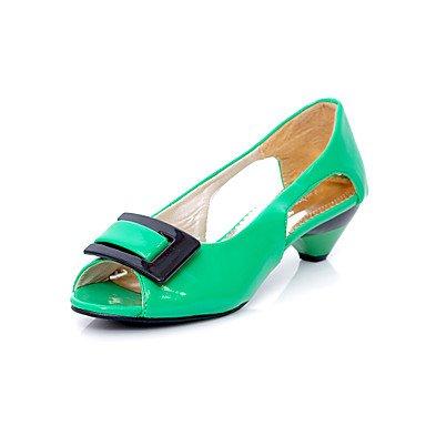 CH&TOU Da donnaTempo libero / Formale / Casual-Tacchi / Spuntate-A stiletto-Finta pelle-Nero / Blu / Giallo / Verde / Rosa / Bianco green