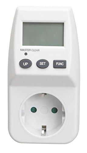 Medidor de energía, proove/Contador de consumo de energía, Costes/Tiempo, Energy, Cost de pantalla/max 3600W + Protección infantil Fusible