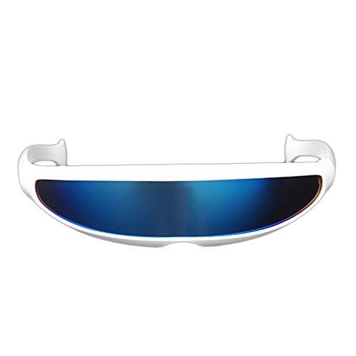 Auntwhale Futuristische Cyclops-Sonnenbrille Cyberpunk Verspiegelte Linse Visier Sonnenbrillen Brille reiten