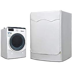 AKEfit Housse pour Lave-Linge et sèche-Linge à Chargement Frontal, imperméable, Argent, Silver, 23'W×23'D×33'H