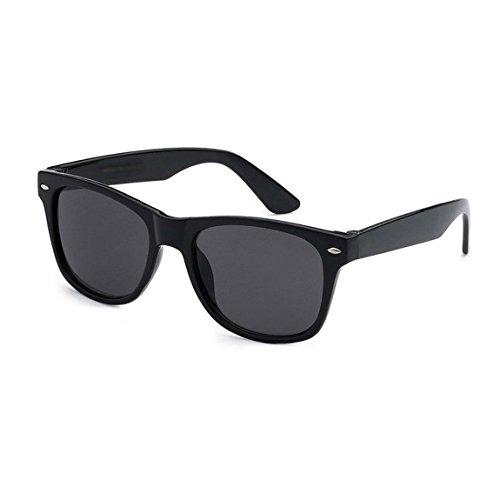 LANGING Kinder-Sonnenbrille, UV400, Kunststoff, Wayfarer-Stil, Rahmen klassisch, Retro-Look, für Jungen und Mädchen