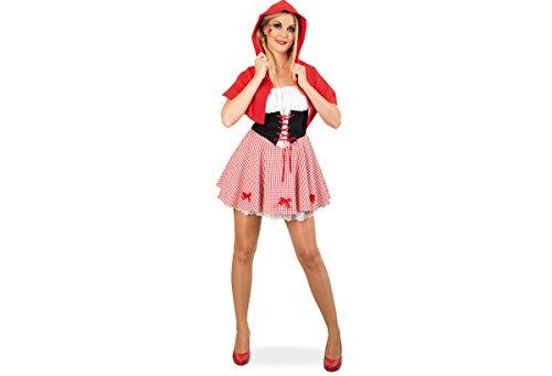 Red Riding Hood Kleid mit Cape Märchenkostüm (42) (Red Riding Hood Cape Kostüm)