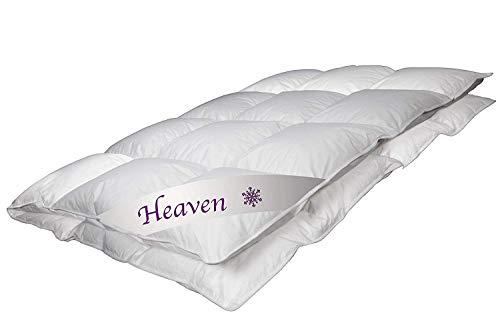 Betten Jumbo Luxus Daunendecke Heaven Made in Germany Sommerdecke 135x200 cm mit 490 g Füllung und 100% weißen Gänsedaunen Klasse 1