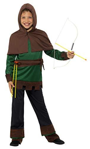 in Hood Kostüm, grün/braun, klein ()