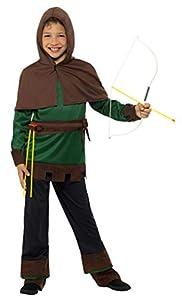 Smiffys 49708l Robin Hood disfraz, verde/marrón, tamaño mediano, UK 7-9
