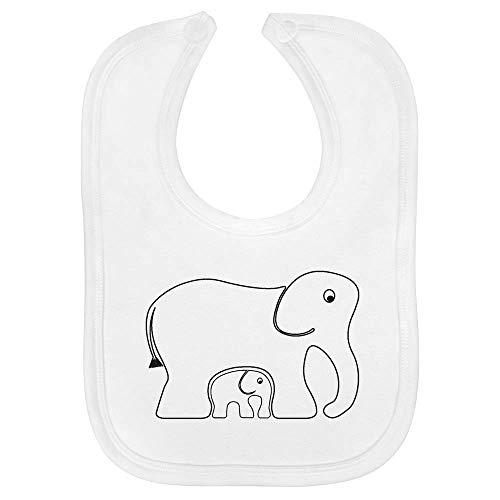 Azeeda 'Elefantes' Bebé Babero (BI00004296)