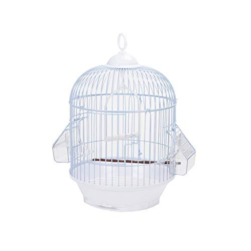 Prodotti per animali domestici Gabbie per Uccelli Piccoli Birdcages in metallo Round Birdhouses Casa degli animali per Budgie Finch Canarino e altri simili uccelli simili, bianco Gabbie per Uccelli