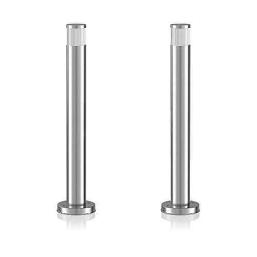parlat LED Sockelleuchte Pillar, Outdoor, aus Aluminium, 50cm, kalt-weiß, 2 Stk.