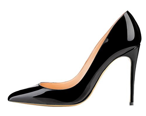 Guoar - Scarpe chiuse Donna (C-Schwarz Lackleder)