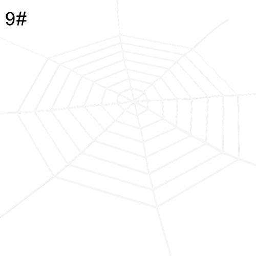 Steellwingsf Dehnbare beängstigend Spinne Web Spinnweb Outdoor Dekoration Halloween Streich Requisiten - 9