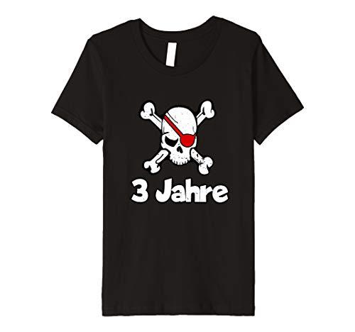 Kinder Geburtstagsshirt 3 Jahre Junge Totenkopf Pirat (Macht Ein Kind Das Piraten Kostüm)