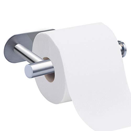 Ersatz-papierrollenhalter Oberfläche (Toilettenpapierhalter, Nasharia Ohne Bohren Selbstklebend Papierhalter Edelstahl Klopapierhalter Toilette Rollenhalter, für Küche und Badzimmer)