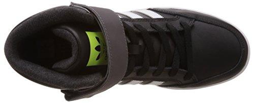 adidas Varial Mid, Baskets hautes mixte adulte Noir - Schwarz (Core Black/Ftwr White/Solar Yellow)