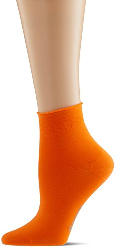 Burlington Damen Socken Neon Darlington, Orange (Bright Orange 8930), 36/41