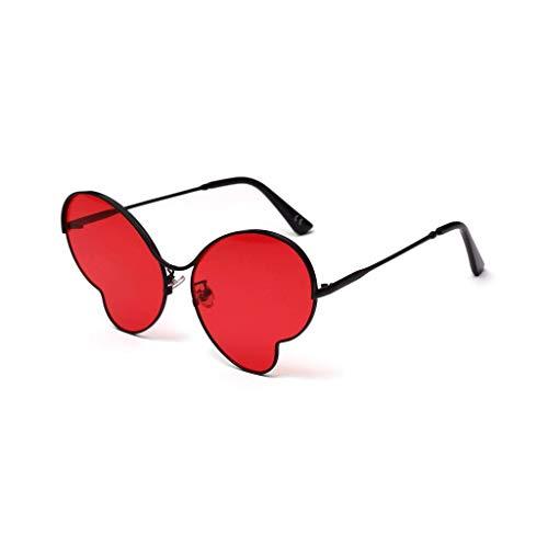 DYV Schmetterling weibliche Sonnenbrille Persönlichkeit Metall konkaven transparenten Farbfilm Erwachsenen Brille