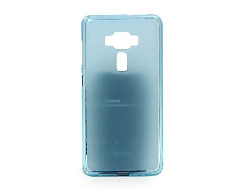 etuo Handyhülle für ASUS Zenfone 3 Deluxe (ZS570KL) - Hülle FLEXmat Case - Blau - Handyhülle Schutzhülle Etui Case Cover Tasche für Handy