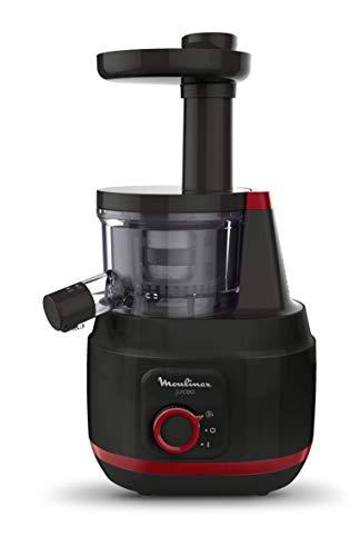 Moulinex ZU150810 juiceo Extracteur de Jus à froid, 150 W, 0,8 litres, plastique, noir et rouge...