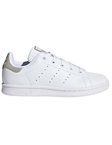 adidas Unisex-Kinder Stan Smith Gymnastikschuhe, Elfenbein (Ftwr White/Ftwr White/Ftwr White), 33 EU (Comfort Stan Smith)