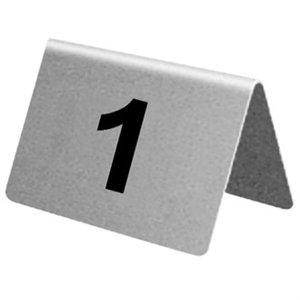 Stainless Steel Table Numbers von 10 Stellen. 21-30.