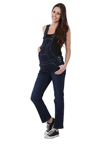 Maternity Dungarees - Darkwash Denim Blue Pregnancy Overalls Maternity Fashion GRACE-XXL-20