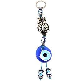 Llavero elefante–Nazar Boncuk Türkisches Ojo–Amuleto–Plata Azul (Azul)
