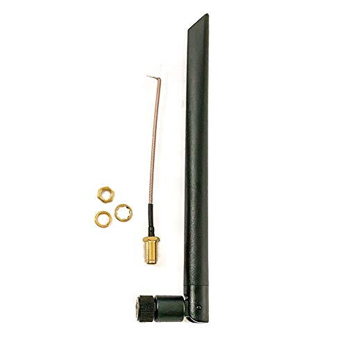 Technikkram 868 MHz Antenne SMA für CCU3 CCU2 Raspberry Pi CUL USB CC1101 GSM ELV Bausatz RaspberryMatic pivCCU Homematic Fibaro Pigtail Kabel (schwarz Kipp- und Schwenkbar 5dBi)