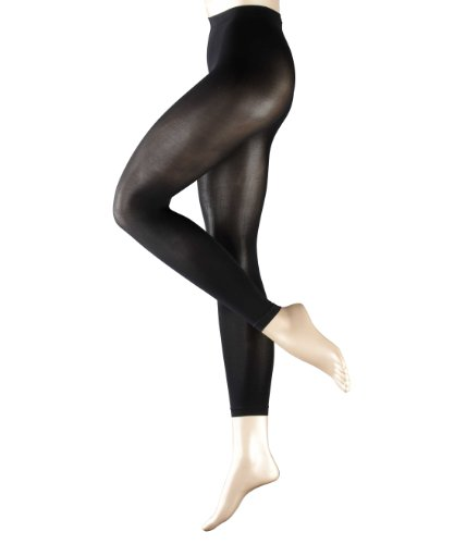 FALKE Pure Matt 50 Leggings 50 den 40789 Damen Leggins, Gr. 38/ 40 (S/M)Schwarz (black 3009)