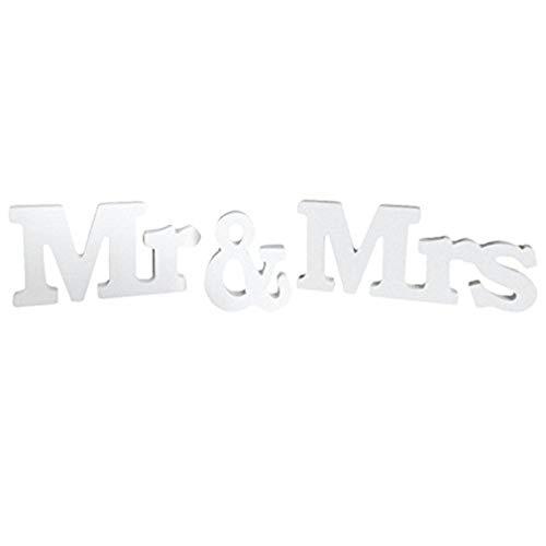 Deko-Streuschmuck Weißer hölzerner Zeichen-Herr und Frau Sign Wooden Letters rustikale Hochzeits-Zeichen für Hochzeits-Tabellen-Foto-Requisiten-Dekorationen durch TheBigThumb (Hochzeit Herr Dekorationen Und Frau)
