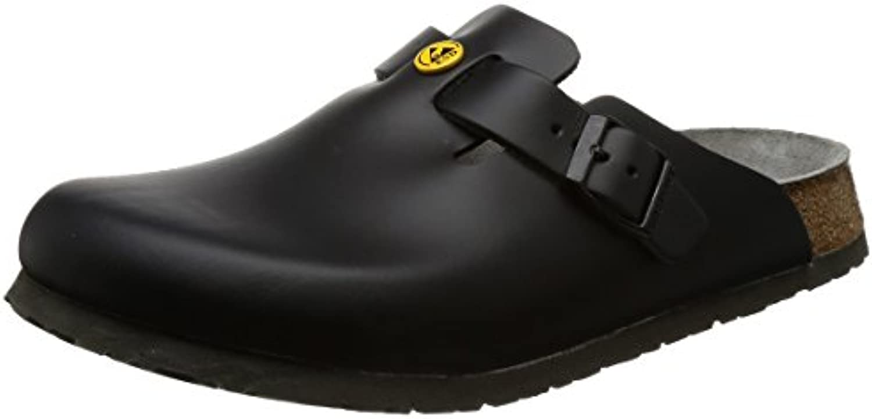 Birkenstock 61360 – 44 – Zapatos plantilla normal Boston antiestáticos/piel natural, negro, tamaño 44