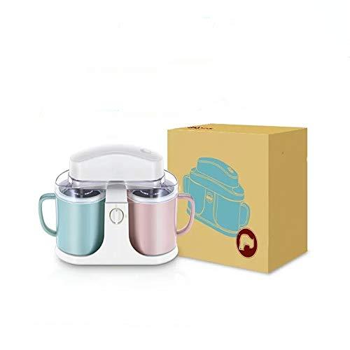Koupa frappè per macchina per gelato a doppia canna fai-da-te, macchina per gelato doppia yogurt di alluminio di qualità domestica, adatta per bambini, intrattenimento, film, feste, barbecue