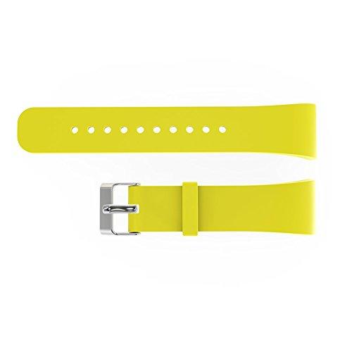 V.one Silikon Sport Armband Band Uhrenarmband Erstatzband mit Stiftschließe aus Edelstahl für Samsung Gear Fit 2 - Gear Für Uhrenarmbänder Große S X