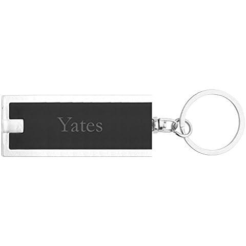 Llavero plástico personalizado con lámpara LED con Yates (nombre de pila/apellido/apodo)