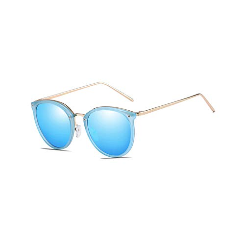 Sport-Sonnenbrillen, Vintage Sonnenbrillen, Trendy Vintage Goggles Brand Designer Cat Eye Sunglasses For WoMänner Männer UV400 Polarized Outdoor Driving Sun Glasses With Zip Case Blue Mirror Lens