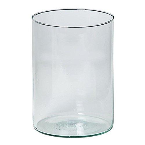 6 x Windlicht in Zylinderform aus Recycling-Glas H 20 cm Zylinder Zylinderglas Windlichter Glas Dekoglas Glasdeko Glaswindlichter Windlichthalter Teelichtgläser Zylindergläser
