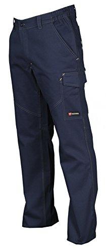 Pantalone da Lavoro 100% Cotone Multistagione Con Tasche Anteriori Payper Worker, Colore: Navy, Taglia: XL