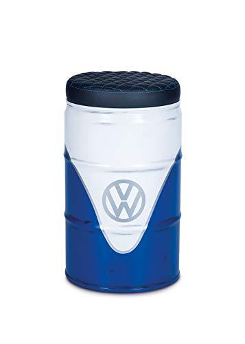 Brisa vw collection vw t1 bus sgabello con spazio stiva - barile per petrolio con aspetto vintage - bianco/blu
