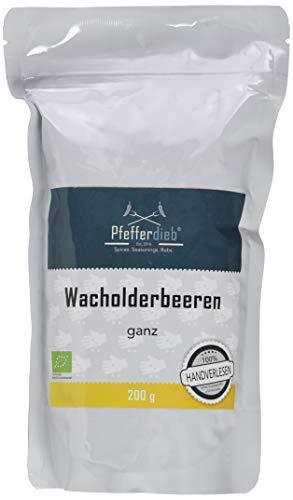 Wacholderbeeren ganz aus Wildsammlung, Wacholder, Premium BIO Qualität, 200g – by Pfefferdieb®