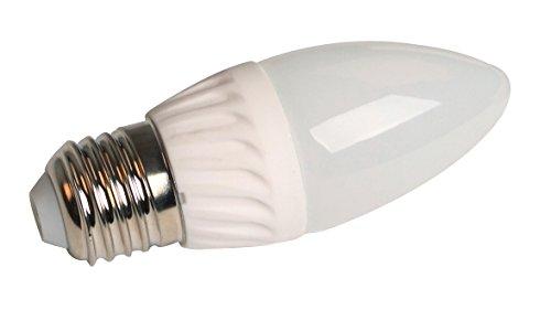Vela con luz LED elumico 3,5 W, blanco neutro (4,000 K) - Ángulo de haz: 270 °, lente: vidrio opalino, casquillo: E27, LM: 320 lm, CE/RoHs, 2 años de garantía
