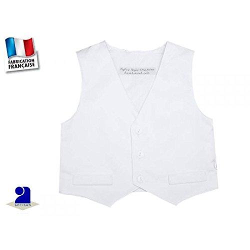 Poussin bleu - Gilet coton blanc, costume garçon Taille d'occasion  Livré partout en Belgique