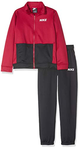 Nike B NSW TRK Poly, Tuta Bambino, Red Crush/Black/White, M