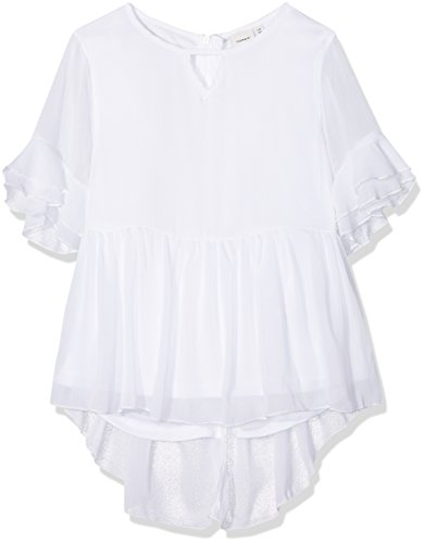 NAME IT Mädchen T-Shirt NKFKATILLA SS TOP, Weiß Bright White, 122
