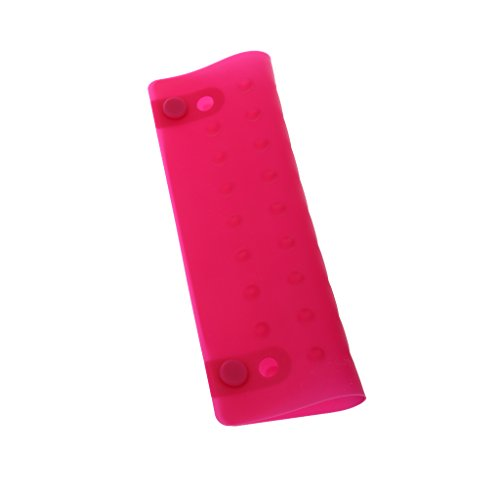 Phenovo Heat Shield Protector Salon Hairdressing Use, for Hair Straightener Curling Iron Protective Pad Mat - pink