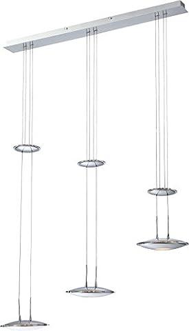 LED Hängeleuchte 3 flammig Esszimmer Lampe höhenverstellbar Hängelampe Pendelleuchte Glas (Pendellampe, Deckenlampe, Wohnzimmer, Deckenleuchte, Esstisch Leuchte, 80 cm, Höhe 180 cm, 3 x 10