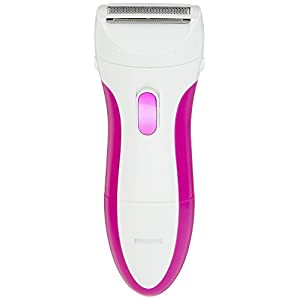 Philips SatinShave Essential Battery Lady Shaver with Bikini Attachment, Cordless and Waterproof, Instant, Painless Hair Removal, HP6341/02