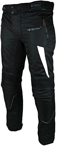 *Heyberry Motorradhose Textil Schwarz Weiß Gr. L*