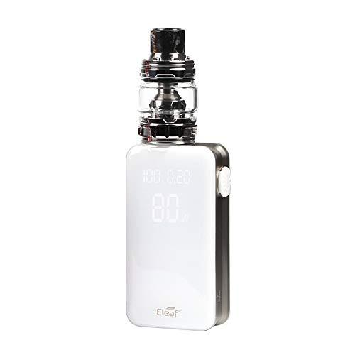 E Zigarette Starter Set Eleaf iStick NOWOS 80W Box Mod Kit, Top Refill 0.2ohm/6.5ml verdampferköpfe Verdampfer kopf ELLO Duro Tank, 4000mAh Akku, Ohne Nikotin Ohne Tabak (Silber)