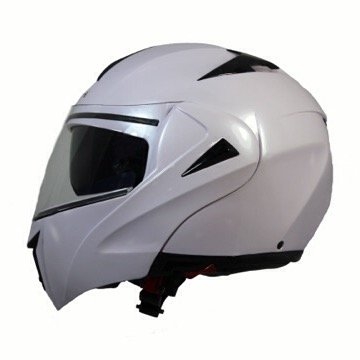 CASCO MOTO BOERI FLIP UP MOD.MILANO WHITE PEARL MEDIUM (M)