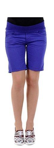 Pietro Brunelli Designer Capri Jeans pantaloni Capri push pantaloncini corti moda Blu blu