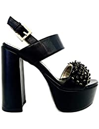 Sandalo Paw Ice Nero Sandali Donna Tacco Alto Plateau Particolare Cerimonia  Elegante Scarpe Matrimonio Shoes Black Woman Sandal High Heel… 0b10cdfcbd4