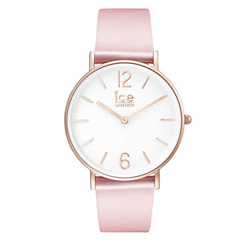 Ice-Watch - City Tanner Pink Rose-Gold - Rosa Damenuhr mit Lederarmband - 001512 (Small) Womens Tanner